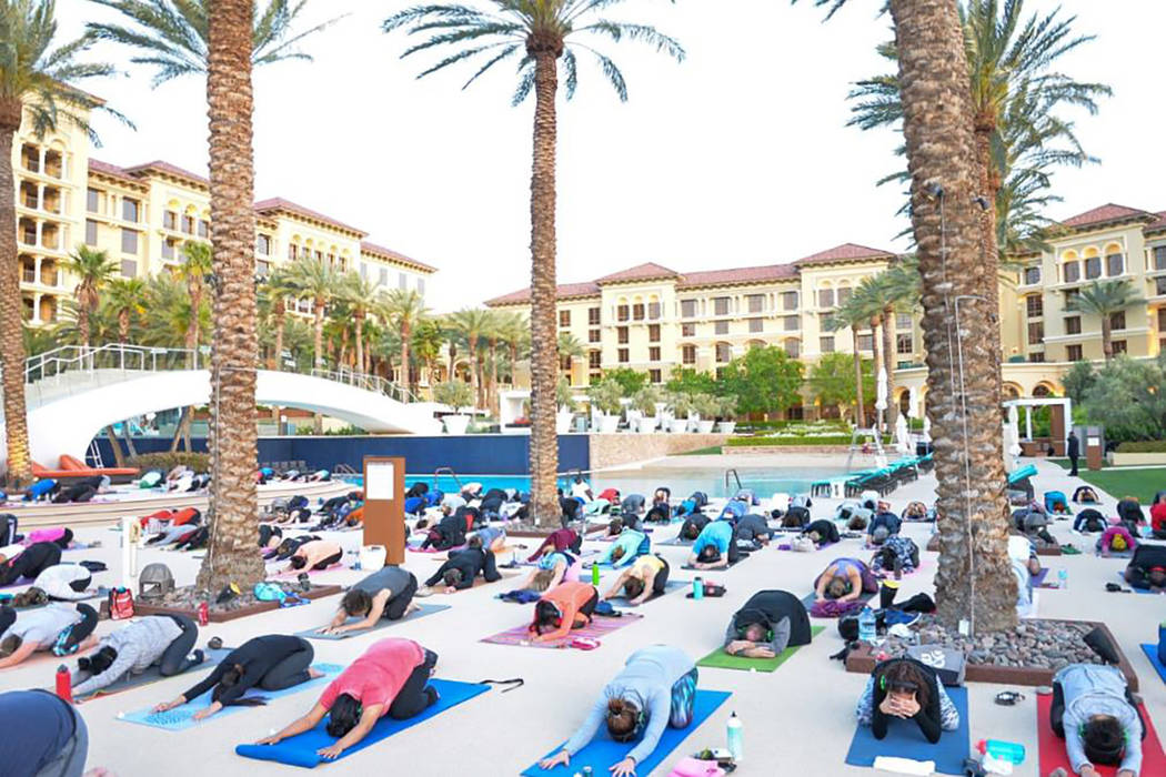 Green Valley Ranch Resort and Red Rock Resort continue their 2018 Silent Savasana seasons, with monthly outdoor yoga events through fall. (Facebook)