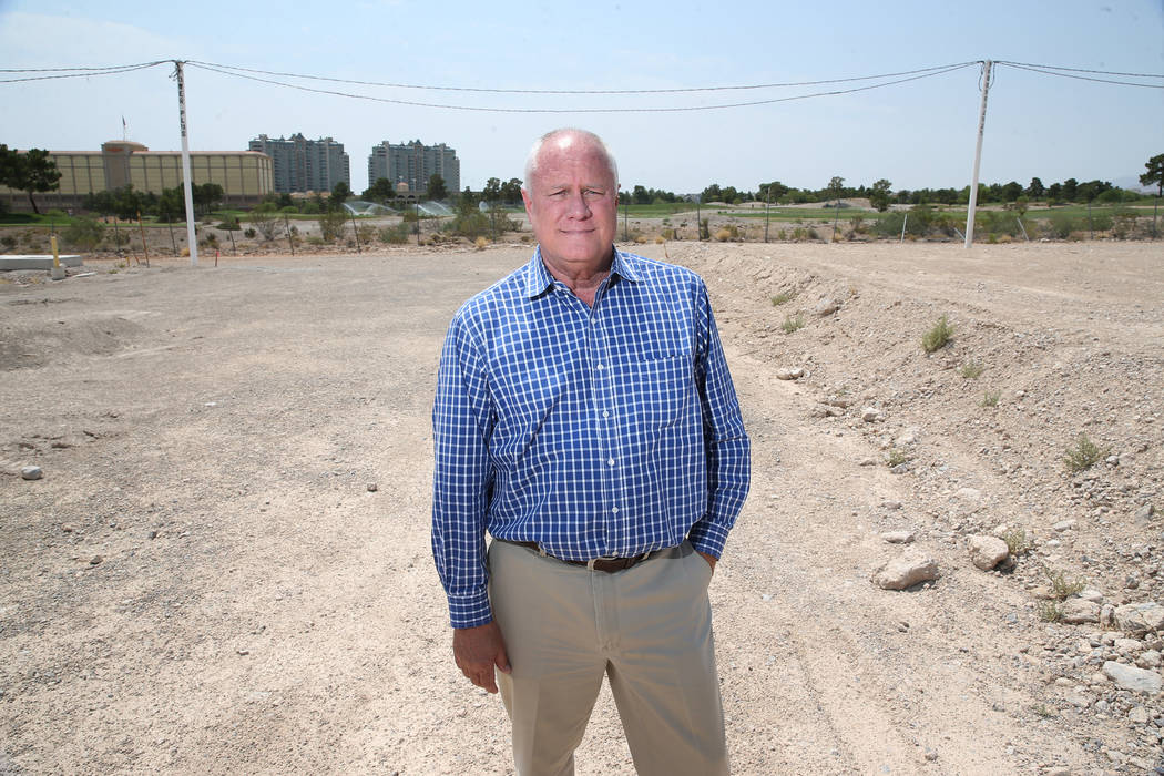 Gary Mayo, group president for Toll Brothers, at the site of the future buildings at the Mira Villa condo complex in Las Vegas, Tuesday, July 31, 2018. Erik Verduzco Las Vegas Review-Journal @Erik ...