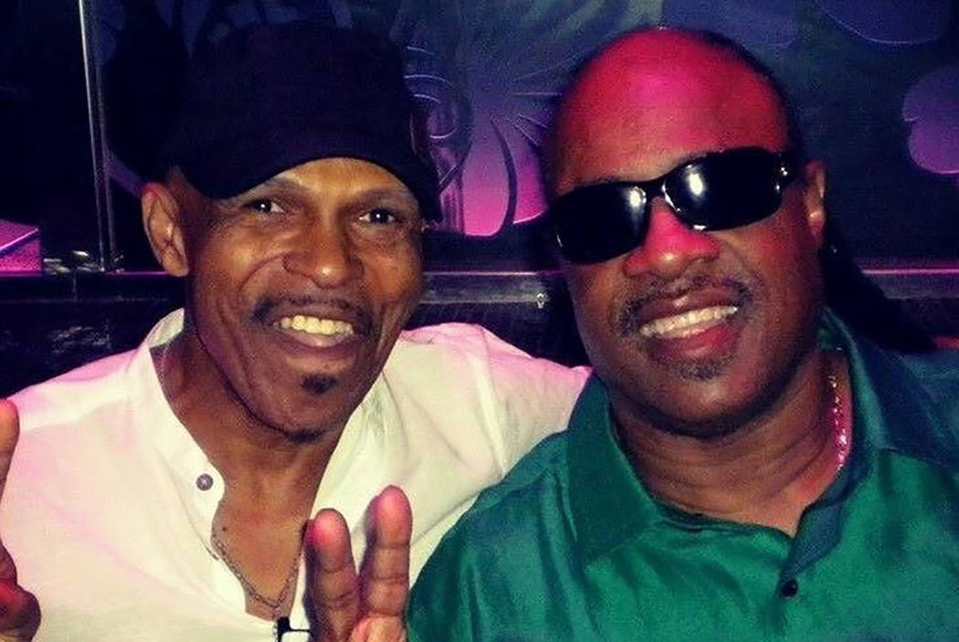 Ronnie Foster and Stevie Wonder are shown in Las Vegas in July 2016. have been friends for more than 50 years. (Ronnie Foster)