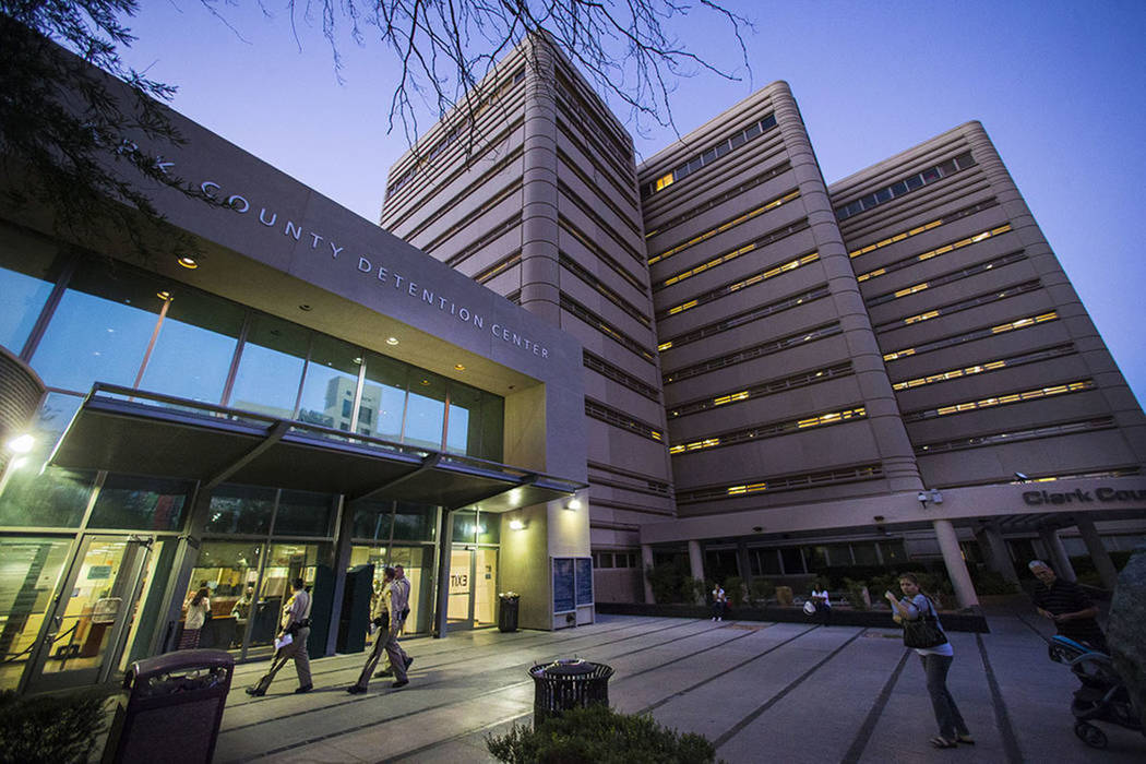 The Clark County Detention Center (Chase Stevens/Las Vegas Review-Journal)