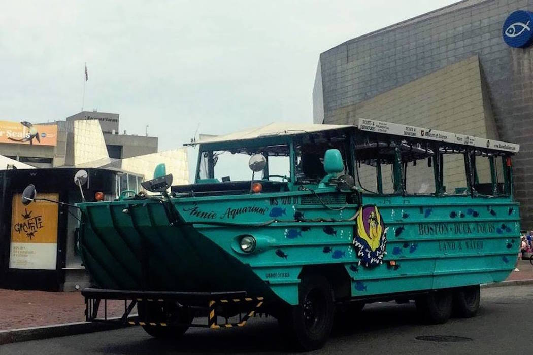 A Boston Duck Tour amphibious vehicle is shown. (Boston Duck Tour/Facebook)