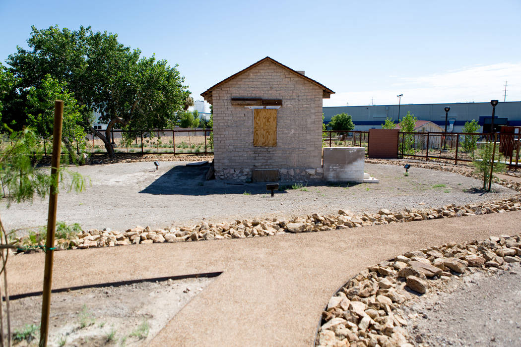 The adobe building, dating to the late 1800s and known as one of the oldest standing building structures in North Las Vegas, is seen at Kiel Ranch Historic Park, Feb. 27, 2016. (Elizabeth Brumley/ ...