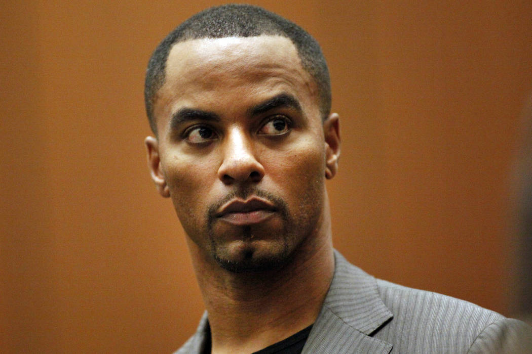 Former NFL football player Darren Sharper has renewed efforts to get a reduction in his 18-year federal sentence for drugging and raping women. (Bob Chamberlin/Los Angeles Times via AP, Pool, File)
