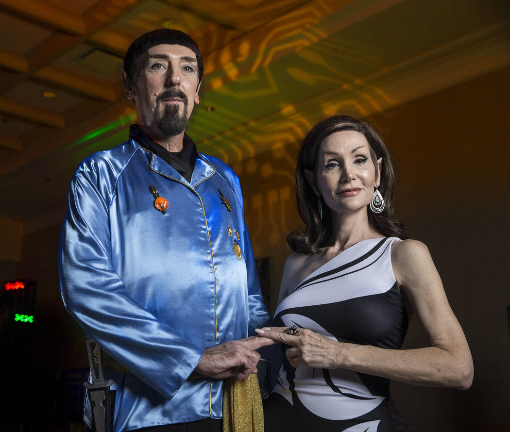 Alan and Karen Rakes, from Melbourne, Fla., at the Star Trek convention on Thursday, Aug. 2, 2018, at the Rio, in Las Vegas. Benjamin Hager Las Vegas Review-Journal @benjaminhphoto