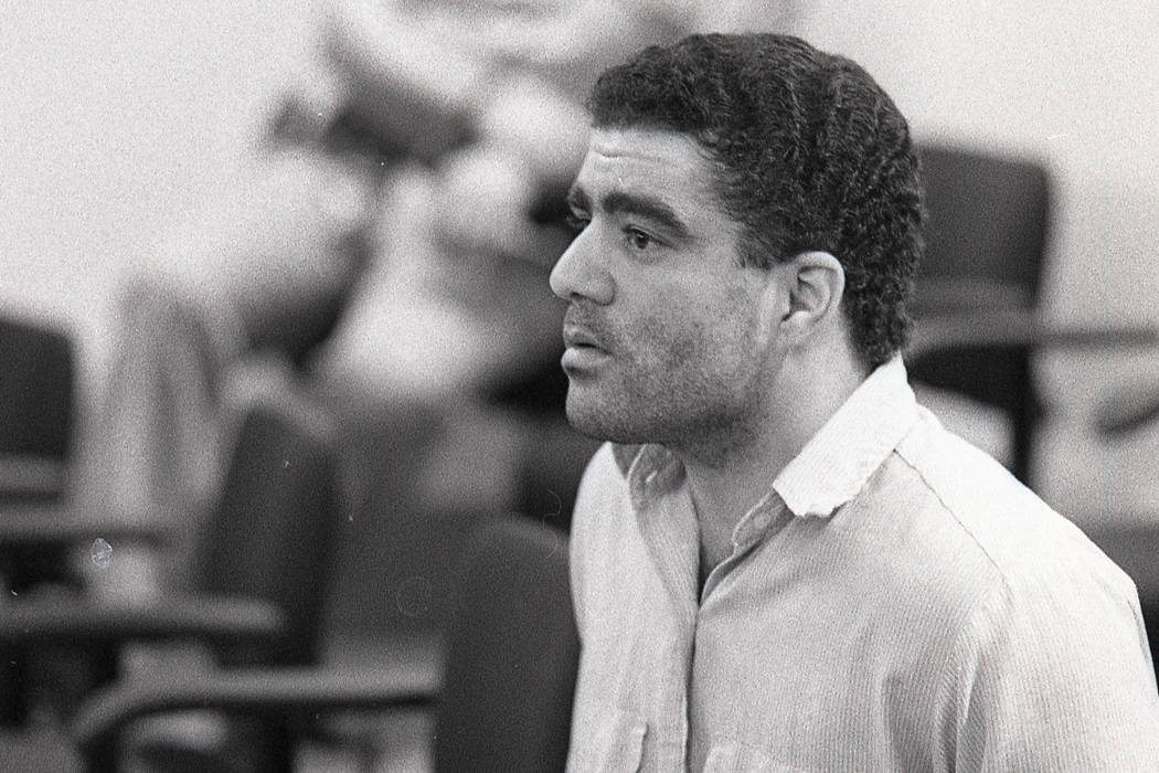Jose Echavarria appears in Clark County District Court on Feb. 21, 1991, after killing FBI Agent John Bailey in a Las Vegas bank in June 1990. (Las Vegas Review-Journal File Photo)