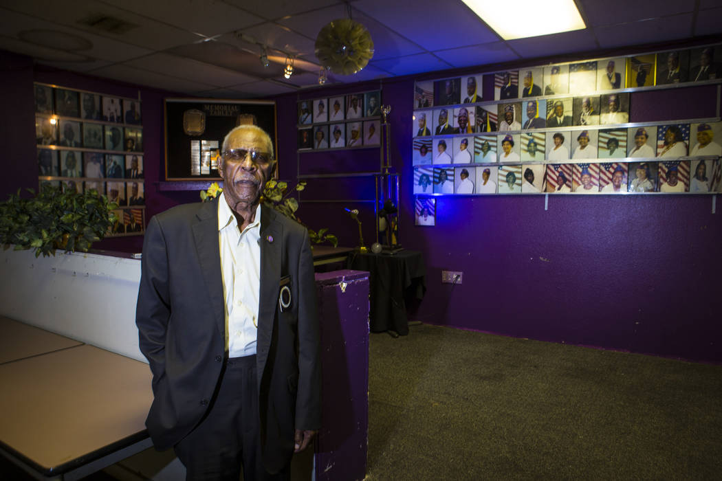 Charles Barber, exalted ruler of the Paran Elks Lodge at 600 W. Owens Ave., poses for a portrait in Las Vegas on Thursday, Aug. 2, 2018. Chase Stevens Las Vegas Review-Journal @csstevensphoto
