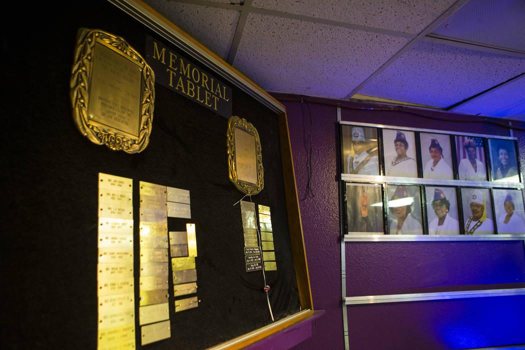 The memorial tablet at the Paran Elks Lodge at 600 W. Owens Ave., in Las Vegas on Thursday, Aug. 2, 2018. Chase Stevens Las Vegas Review-Journal @csstevensphoto