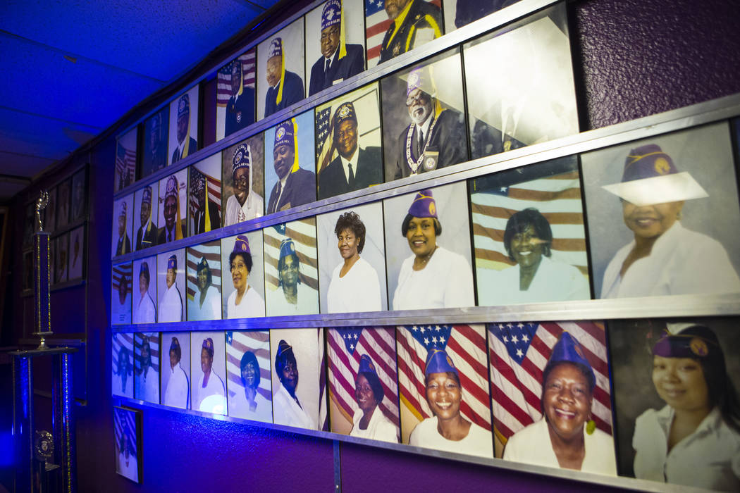 A wall displaying portraits of members of the Paran Elks Lodge at 600 W. Owens Ave., in Las Vegas on Thursday, Aug. 2, 2018. Chase Stevens Las Vegas Review-Journal @csstevensphoto