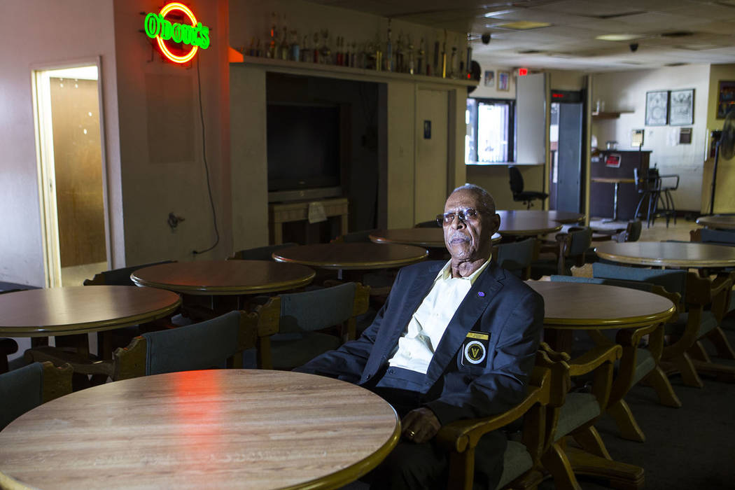Charles Barber, president of the Paran Elks Lodge at 600 W. Owens Ave., poses for a portrait in Las Vegas on Thursday, Aug. 2, 2018. Chase Stevens Las Vegas Review-Journal @csstevensphoto