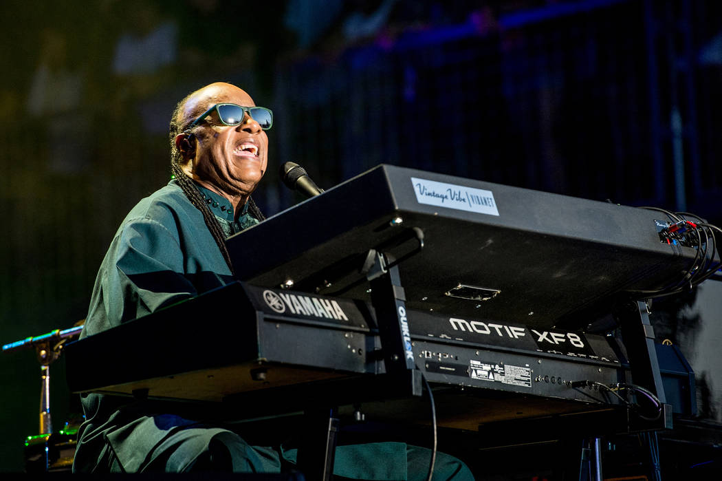 Stevie Wonder performs at BottleRock Napa Valley Music Festival at Napa Valley Expo on Friday, May 27, 2016, in Napa, Calif. (Photo by Amy Harris/Invision/AP)