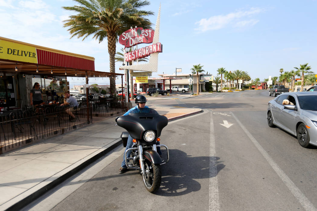 Tabitha Kast of Boulder City after having breakfast at Southwest Diner on the corner of Nevada Way and 5th Street in Boulder City Wednesday, Aug. 1, 2018. K.M. Cannon Las Vegas Review-Journal @KMC ...