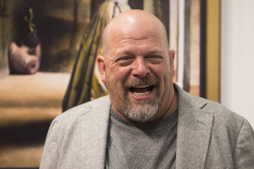 Rick Harrison attends the artist Tim Cantor's exhibition opening at the AFA Gallery in the Fashion Show Mall in Las Vegas on Saturday, Oct. 1, 2016. Loren Townsley/Las Vegas Review-Journal Follow ...