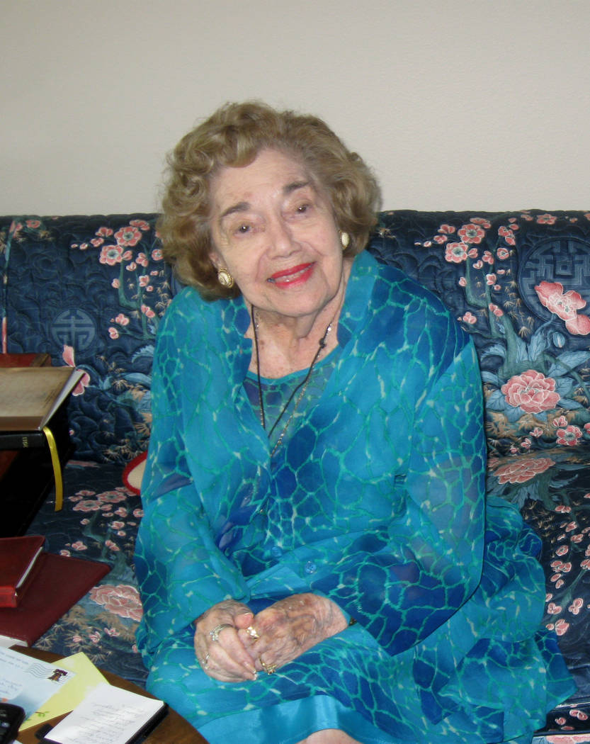 Edythe Katz smiles as she takes part in an interview in 2011 in Las Vegas. (Las Vegas Review-Journal File Photo)