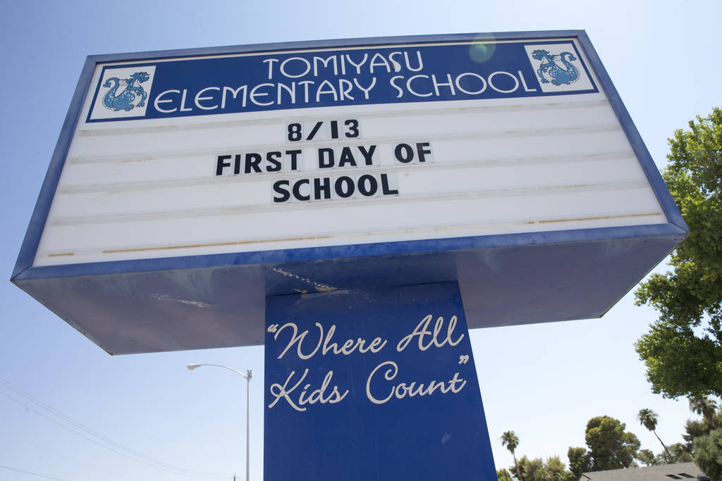 Tomiyasu Elementary School in Las Vegas on Monday, Aug. 6, 2018. Richard Brian Las Vegas Review-Journal @vegasphotograph
