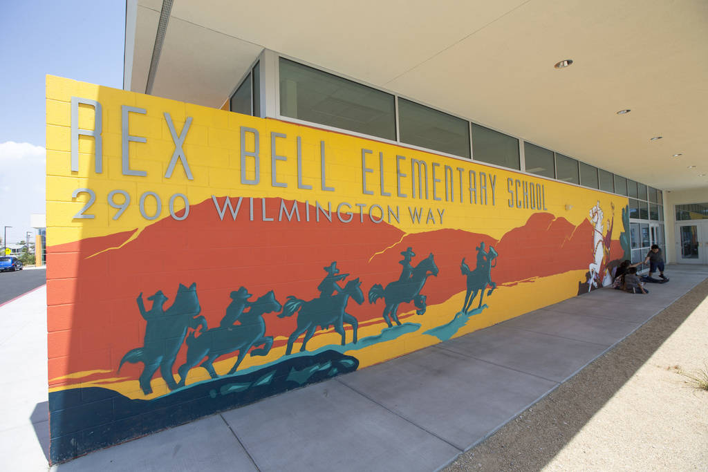 Main entrance to Rex Bell Elementary School in Las Vegas on Wednesday, Aug. 8, 2018. Richard Brian Las Vegas Review-Journal @vegasphotograph