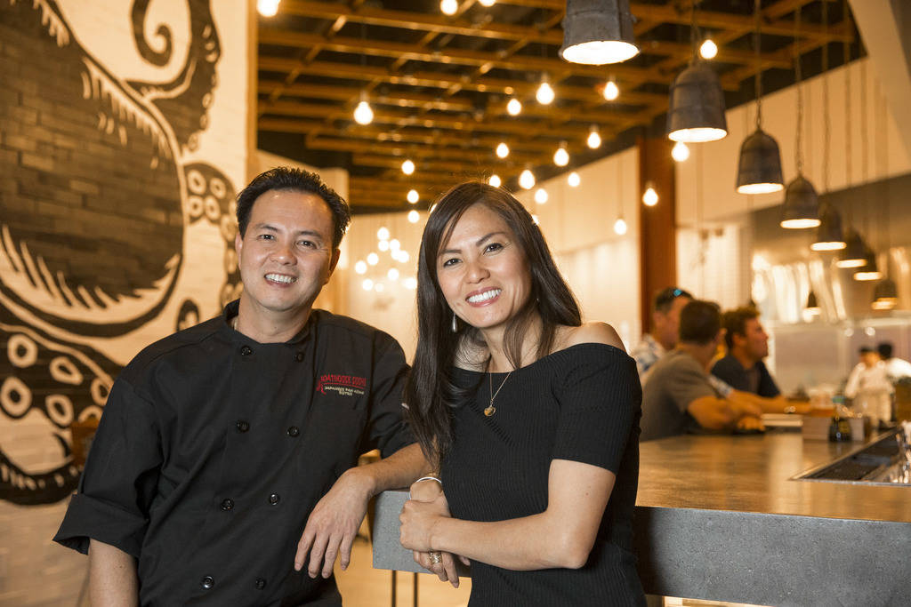 Tu Do, left, and his sister, Cat Do, co-founders of Boathouse, at their new Boathouse restaurant at Palace Station in Las Vegas on Friday, Aug. 3, 2018. Richard Brian Las Vegas Review-Journal @veg ...