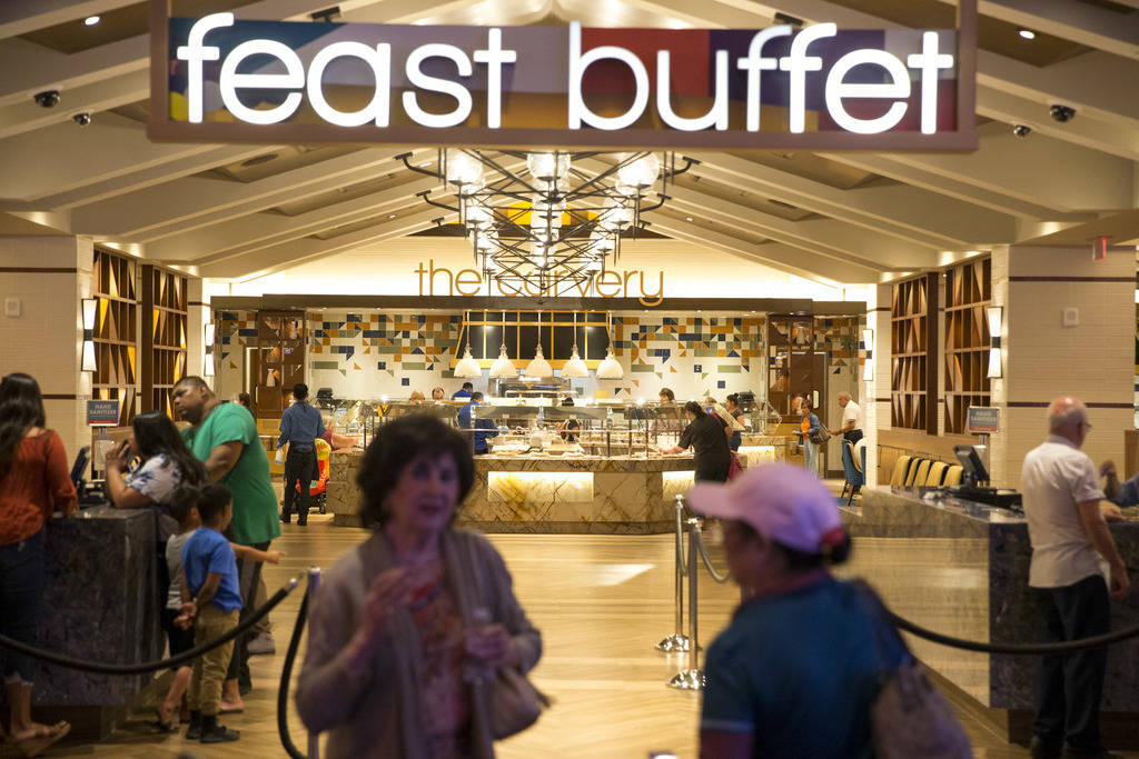 The entrance to the new Feast Buffett at the newly renovated Palace Station hotel-casino in Las Vegas on Friday, Aug. 3, 2018. Richard Brian Las Vegas Review-Journal @vegasphotograph