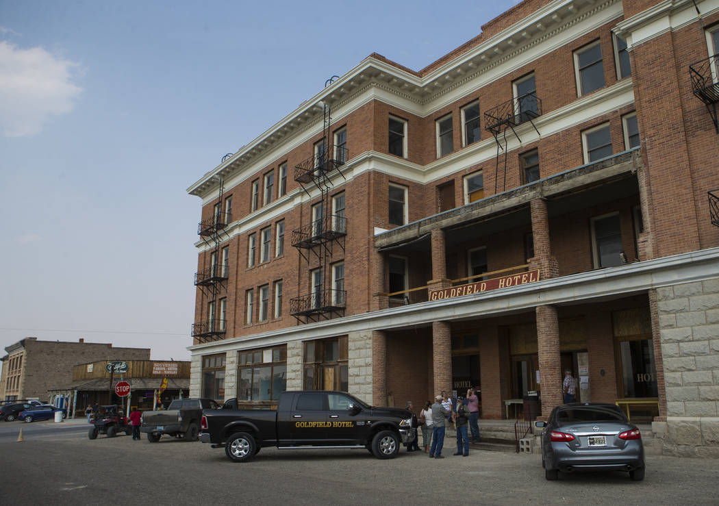 The historic Goldfield Hotel offered tours during the Goldfield Days celebration in Goldfield on Saturday, Aug. 4, 2018. Chase Stevens Las Vegas Review-Journal @csstevensphoto