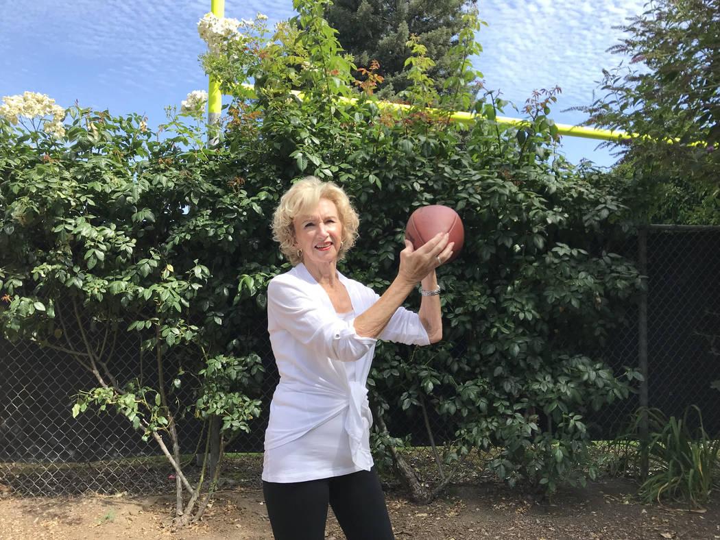 Sandy King in the backyard of her home in Napa, Calif. (Courtesy of John King)