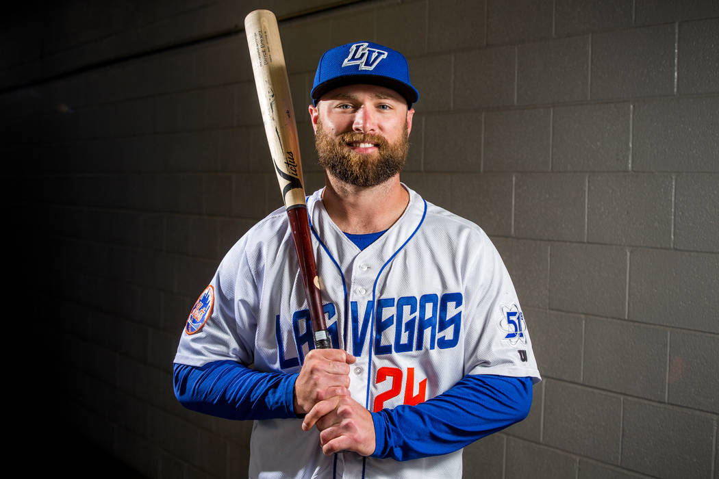 51s outfielder Bryce Brentz during the 51s media day at Cashman Field in Las Vegas on Tuesday, April 3, 2018. (Las Vegas Review-Journal)