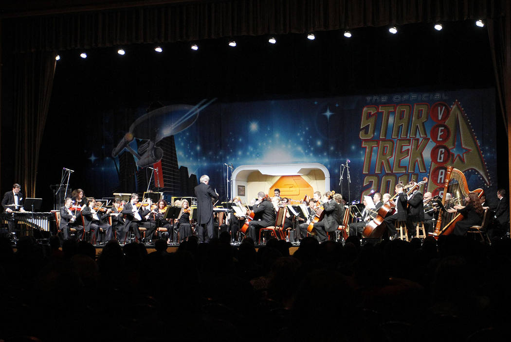 The Nevada Pops orchestrta performs during a previous edition of the Official Star Trek Convention. (Courtesy Creation Entertainment)