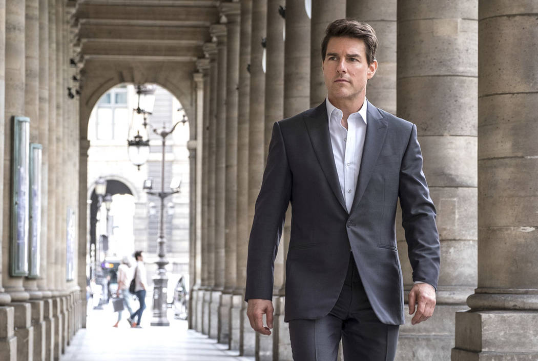 """Tom Cruise stars in a scene from """"Mission: Impossible - Fallout."""" (David James/Paramount Pictures and Skydance via AP)"""