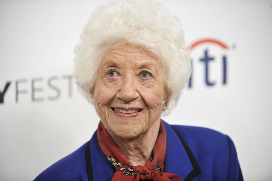 "Charlotte Rae arrives at the 2014 PALEYFEST Fall TV Previews - ""The Facts of Life"" Reunion in Beverly Hills, Calif. (Photo by Richard Shotwell/Invision/AP)"