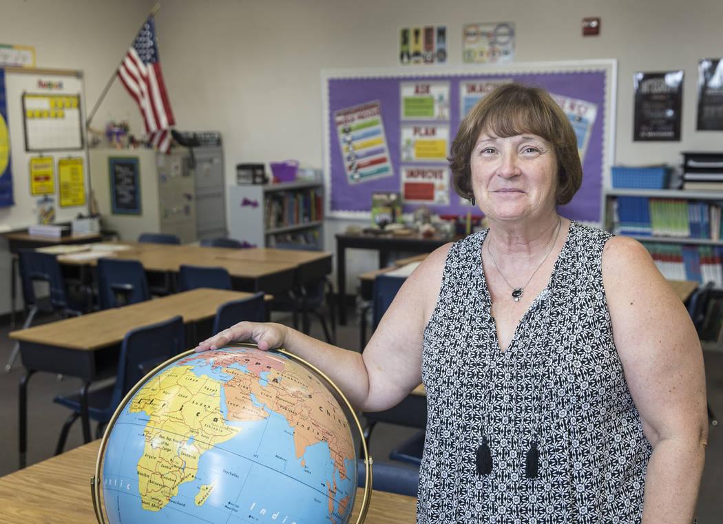 Third grade teacher Denise Lovern at Steele Elementary School on Thursday, Aug., 9, 2018, in Las Vegas. Benjamin Hager Las Vegas Review-Journal @benjaminhphoto