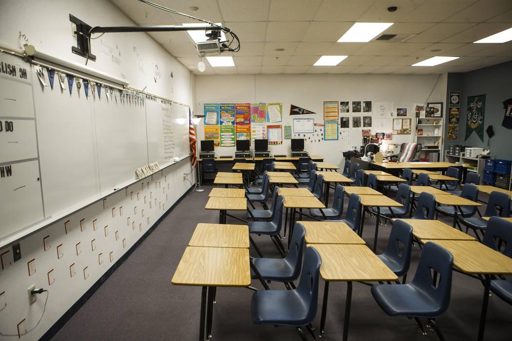 The classroom of Liberty High School teacher Jessica Maleskey in Henderson on Thursday, Aug. 2, 2018. Chase Stevens Las Vegas Review-Journal @csstevensphoto