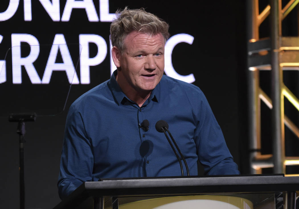 """Gordon Ramsay discuses his upcoming culinary travel documentary series """"Gordon Ramsay: Uncharted"""" during the National Geographic Television Critics Association Summer Press Tour at The B ..."""