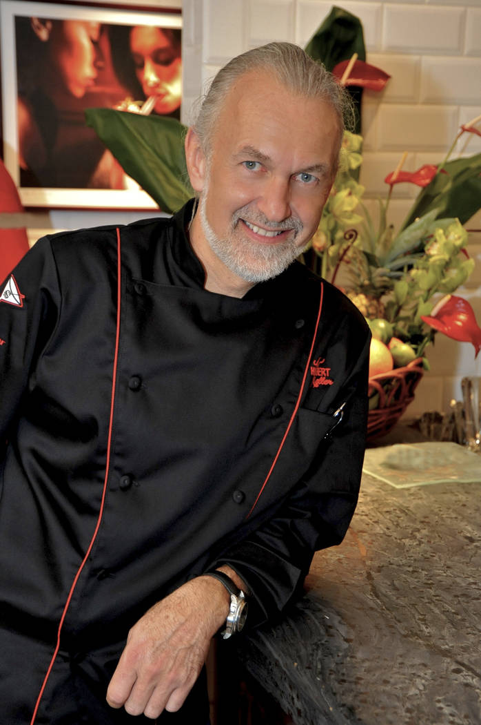 "Rick Camargo/special to View Celebrity chef Hubert Keller, who operates Burger Bar and Fleur de Lys at Mandalay Bay, plans to begin recording the third season of his cooking show ""Hubert Ke ..."