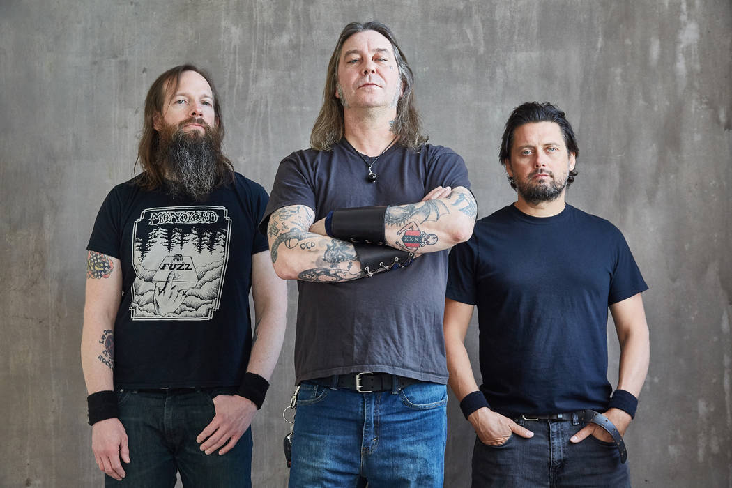 High on Fire frontman Matt Pike, center, will be performing at Psycho Las Vegas for the fourth time in three years this weekend. (Jen Rosenstein)