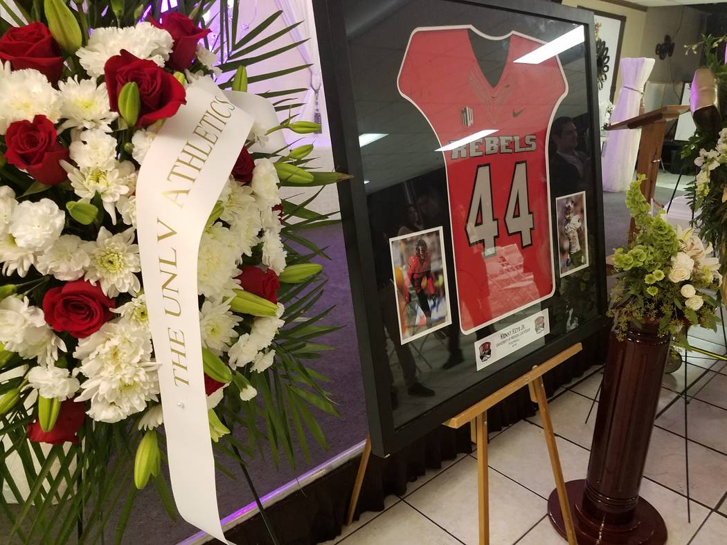 Final respects paid to ex-UNLV football player Kenny Keys