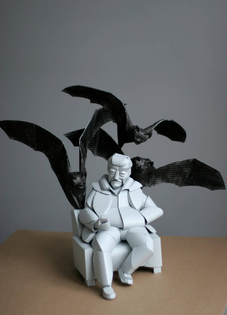 """A sculpture from Warren King's """"Caprices"""" series on display in the exhibit """"Outside the Box II."""""""