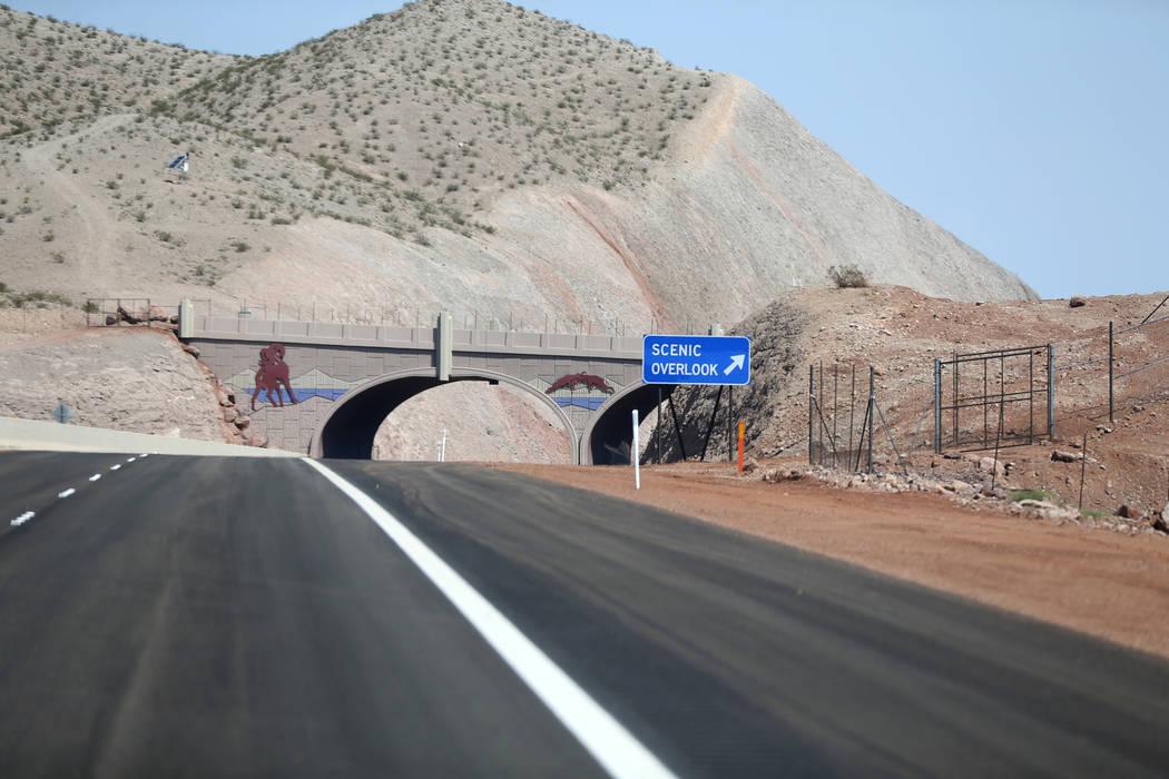 A wildlife bridge over Interstate 11 Friday, Aug. 3, 2018. K.M. Cannon Las Vegas Review-Journal @KMCannonPhoto