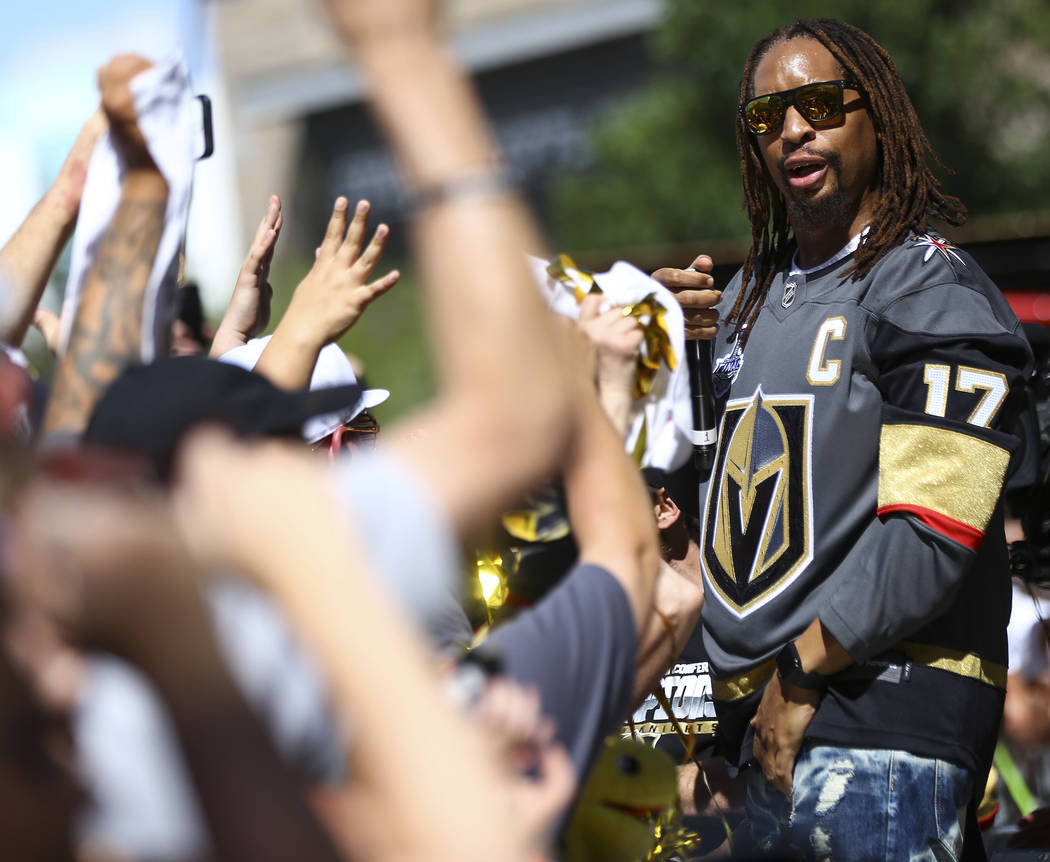 Lil Jon performs during a concert ahead of Game 1 of the NHL hockey Stanley Cup Final at the T-Mobile Arena in Las Vegas on Monday, May 28, 2018. Chase Stevens Las Vegas Review-Journal @csstevensphoto