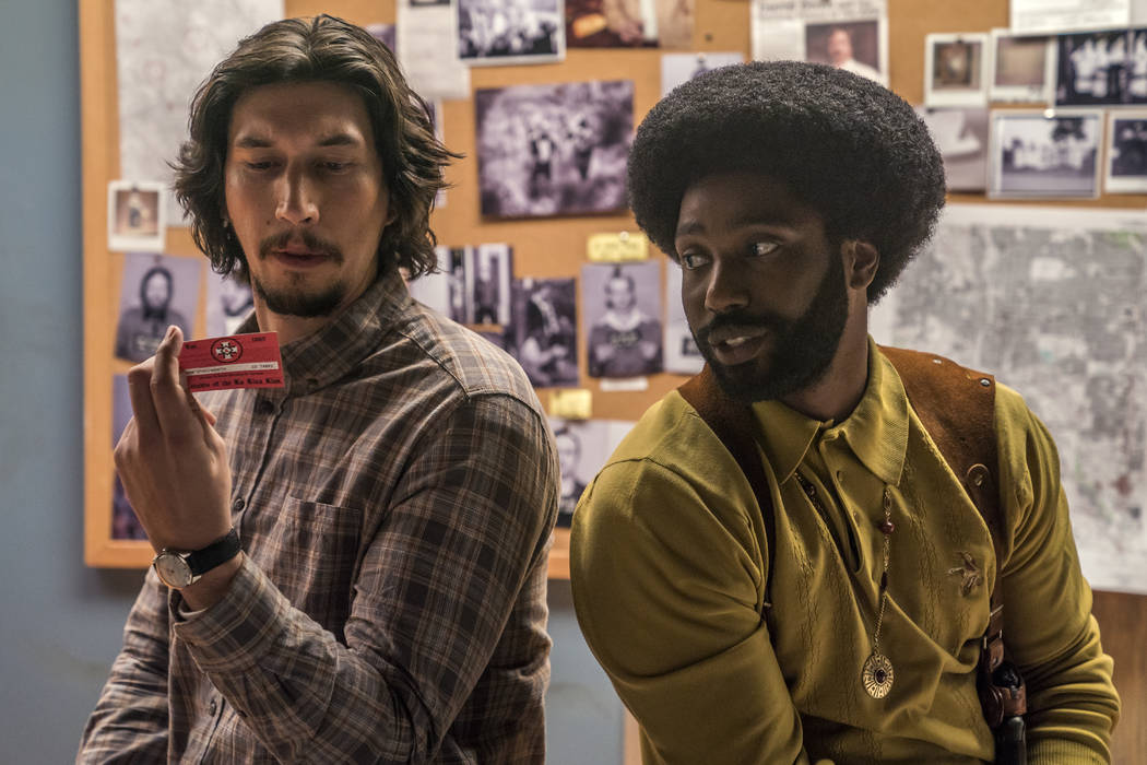"Adam Driver stars as Flip Zimmerman and John David Washington as Ron Stallworth in Spike Lee's ""BlacKkKLansman."" (David Lee/Focus Features)"
