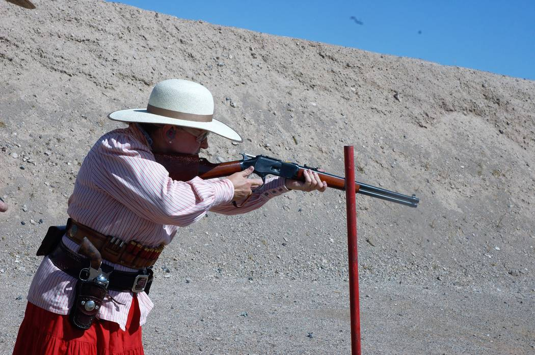 As with other shooting sports, Cowboy Action Shooting is quickly drawing the attention of female shooters who compete alongside their male counterparts. (Doug Nielsen)