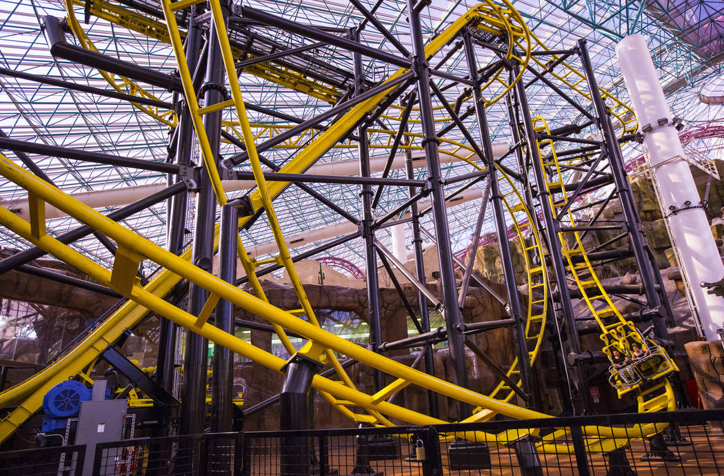 El Loco rollercoaster in the Adventuredome at Circus Circus in Las Vegas on Friday, June 22, 2018. Chase Stevens Las Vegas Review-Journal @csstevensphoto