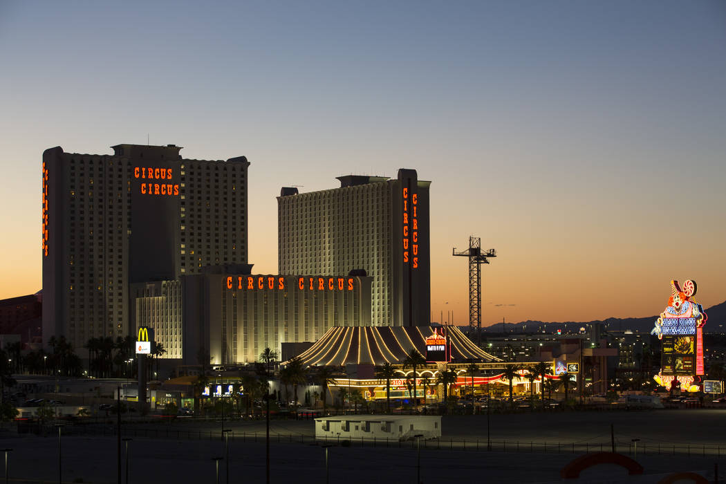 Mgms Circus Circus Hotel Resort At Sunset In Las Vegas On Thursday June 21