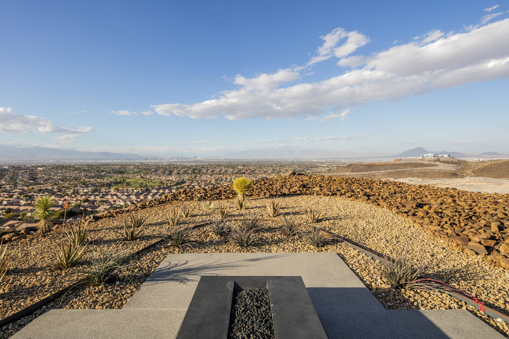 The home has sweeping views of the Las Vegas Valley floor. (Ascaya)