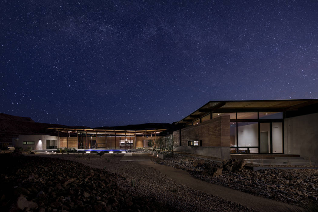 The Ascaya Inspirational Home at night. (Ascaya)