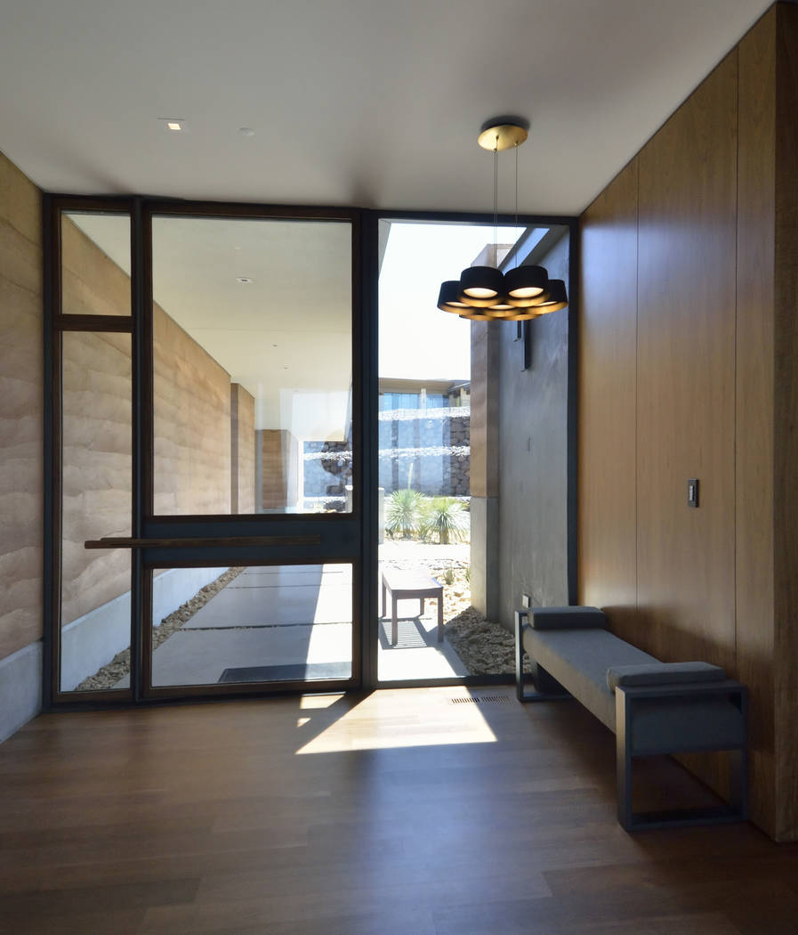 The front door leads into the home at 5 Vista Crescent in Ascaya. (Bill Hughes Real Estate Millions)