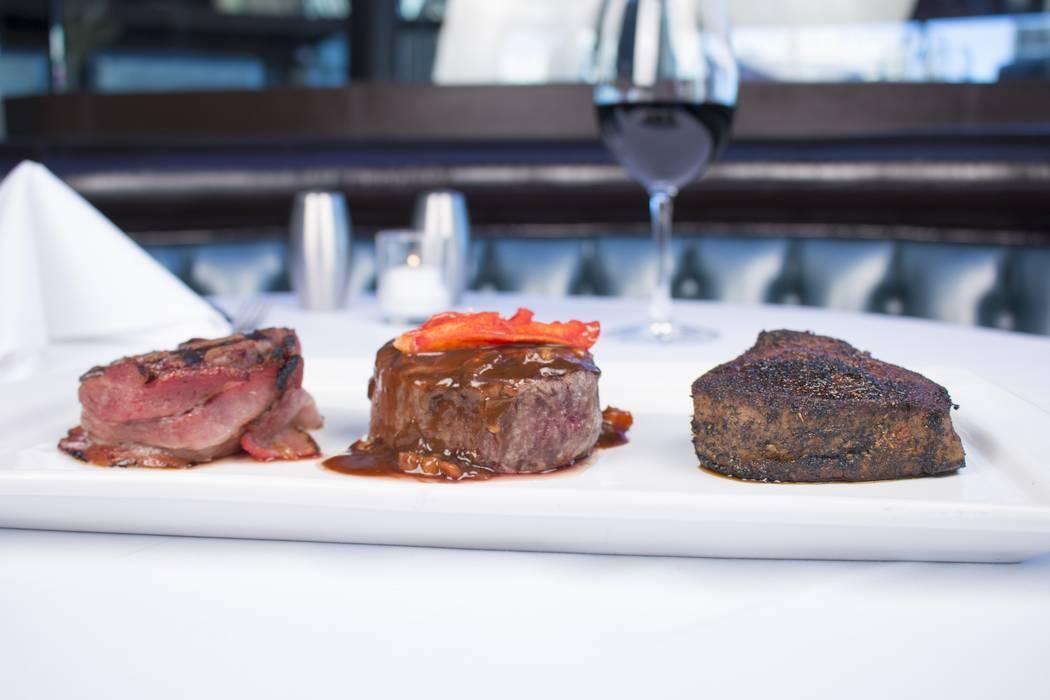 Petite filet mignons. Oscar's Steakhouse