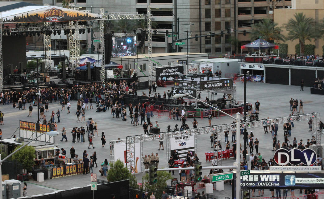 Las Rageous is a hard rock music festival hosted in downtown Las Vegas near the Fremont Street Experience, Saturday, April 22, 2017. Gabriella Benavidez Las Vegas Review-Journal @gabbydeebee