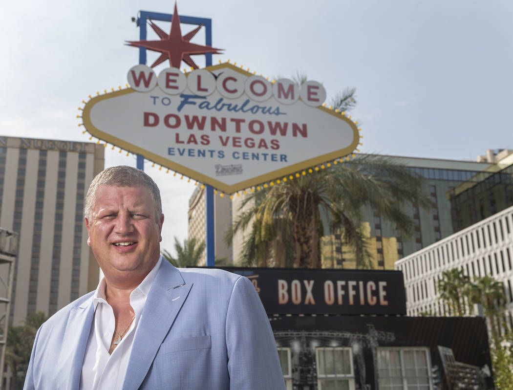 D Las Vegas CEO Derek Stevens at the Downtown Las Vegas Events Center on Thursday, Aug., 9, 2018, in Las Vegas. Benjamin Hager Las Vegas Review-Journal @benjaminhphoto