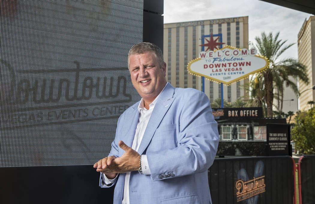 D Las Vegas CEO Derek Stevens at the Downtown Las Vegas Events Center on Thursday, Aug., 9, 2018, in Las Vegas. Benjamin Hager Las Vegas Review-Journal @benjaminhphoto