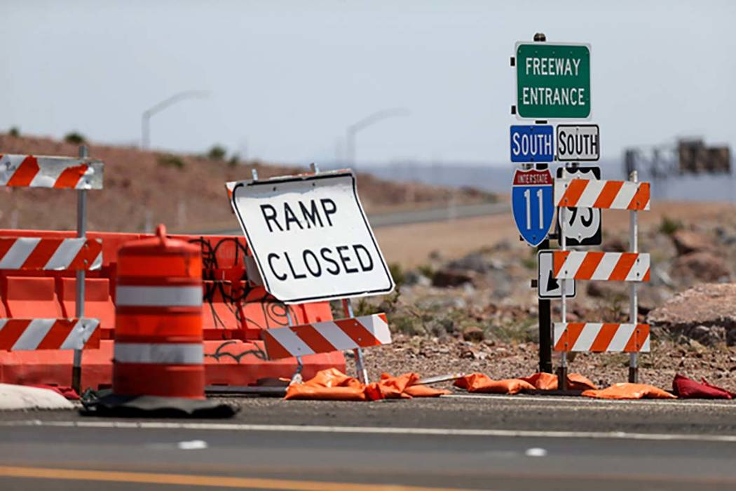 An onramp to Interstate 11 from U.S. Highway 95 in Boulder City Wednesday, Aug. 1, 2018. K.M. Cannon Las Vegas Review-Journal @KMCannonPhoto