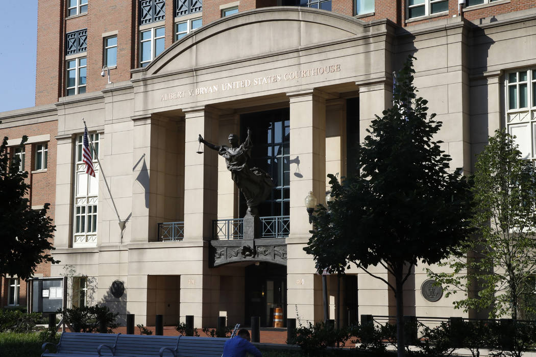 Federal court, where the trial of former Trump campaign chairman Paul Manafort will continue, is seen in Alexandria, Va., Wednesday, Aug. 8, 2018. (Jacquelyn Martin/AP)