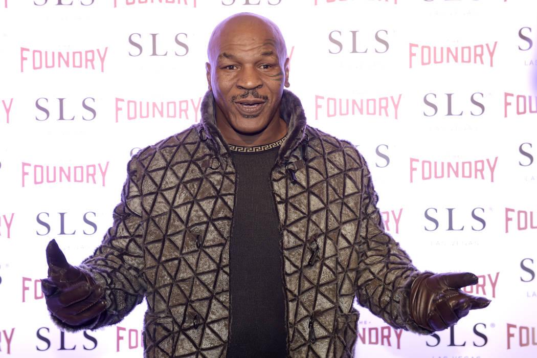 "Mike Tyson arrives for the premier Jon Lovitz and Dana Carvey's residency ""Reunited"" at The Foundry at SLS in Las Vegas Friday, Jan. 6, 2017. Sam Morris/Las Vegas News Bureau"